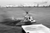 Bell 47G [1969] N4475<br /> Ports O' Call Village, San Pedro, California - early 1970s<br /> <br /> Here's a little series of three shots of one of my favorite helicopters, fitted out with pontoons and hard at work.