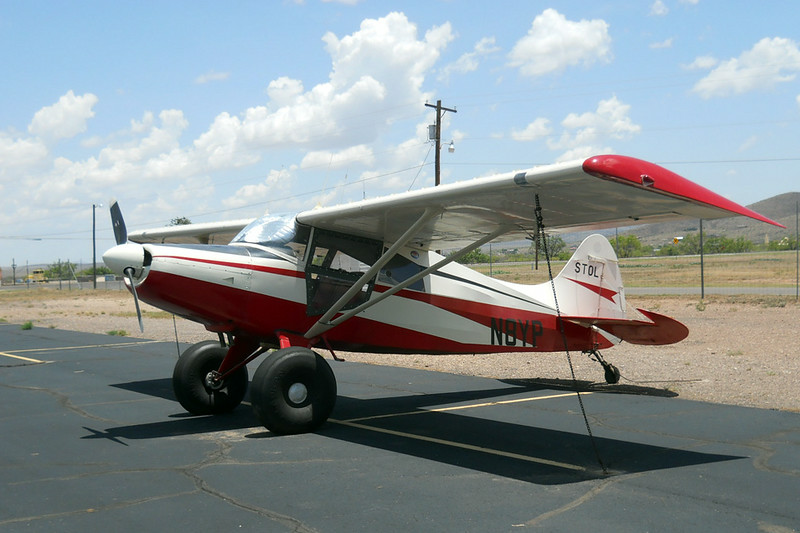 Maule MA-4-210C Rocket [1973] N8YP<br /> Casparis Airport, Alpine, Texas - July 2014<br /> <br /> This fine example of a Maule Rocket has been outfitted with a STOL package and tundra tires, even though it's registered here in Texas. The pilot must do a lot of off-airport work. It's also co-owned by a pilot in Florida, which might explain it.