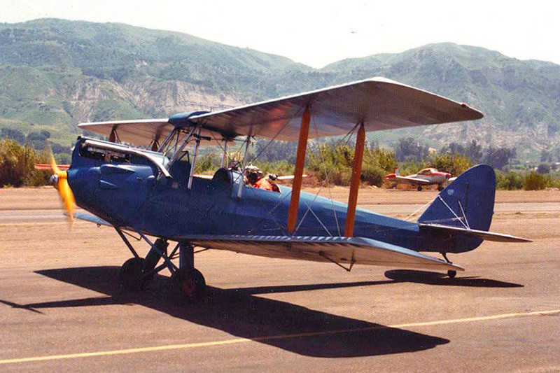 de Havilland D.H.60G Gipsy Moth [1927] N1510V Santa Paula Airport, Santa Paula, California - early 1970s  This lovely airplane is remarkable in that it was owned at this time by Bud Gurney, Charles Lindbergh's barnstorming buddy from his pre-<i>Spirit of St Louis</i> days. Bud had such a huge entourage of people around him this day I never got to speak to him, but just seeing him was a thrill and an honor. That's him taxiing by now.