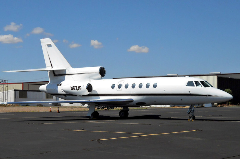Dassault-Breguet Falcon 50 [1982] N67JF<br /> Casparis Airport, Alpine, Texas - July 2011