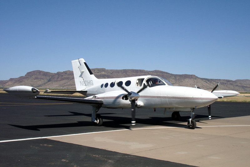 Cessna 421B Golden Eagle [1973] N60HG<br /> Casparis Airport, Alpine, Texas - May 2009
