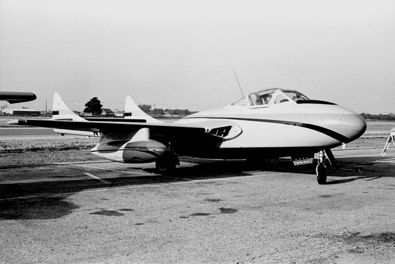 de Havilland D.H.100 Vampire<br /> Oxnard Airport, Oxnard, California - early 1970s