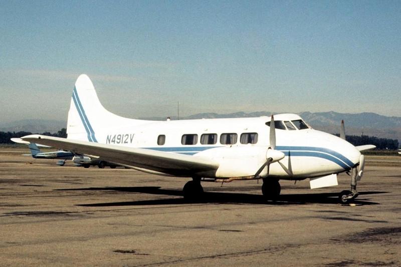 de Havilland D.H.104 Dove Mk.5A [1950] N4912V<br /> Oxnard Airport, Oxnard, California - December 1972