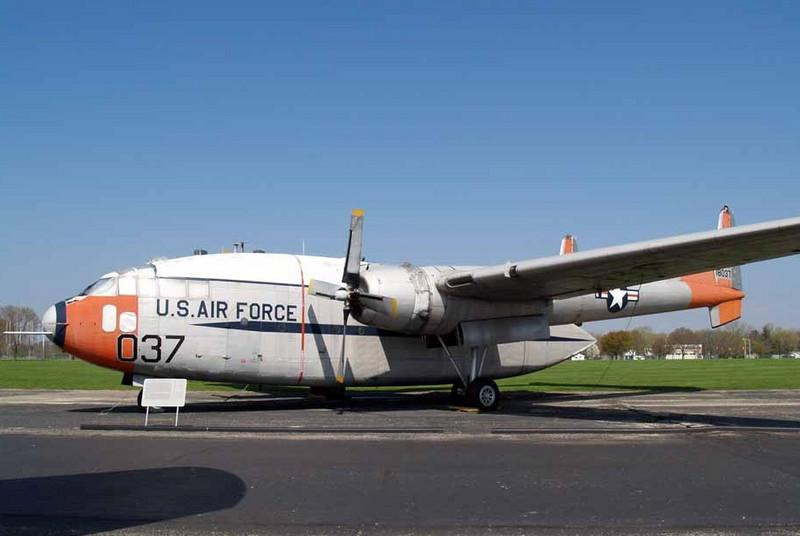"""Fairchild C-119J Flying Boxcar [1951] s/n 51-8037<br /> National Museum of the USAF, Dayton, Ohio - April 2008<br /> <br /> This was one of the """"neighborhood"""" aircraft I saw almost every day as they flew over our house on approach to Hensley Field in Grand Prairie back in the 50s and 60s."""