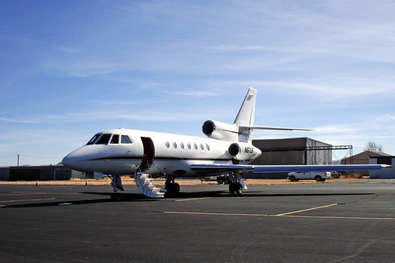 Dassault-Breguet Falcon 50 [1982] N67JF<br /> Casparis Airport, Alpine, Texas - December 2010