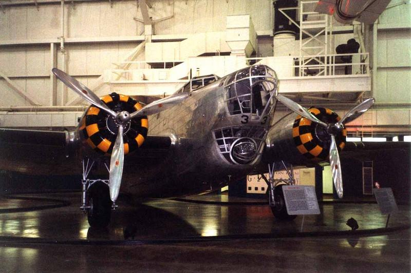 Douglas B-18A Bolo [1937] s/n 37-0469<br /> National Museum of the USAF, Dayton, Ohio - January 2001<br /> <br /> This pre-WWII bomber was designed along the lines of Douglas' DC-2 airliner, the forerunner of the world-famous DC-3. The rather curious over/under nose configuration of the B-18 Bolo consisted of the bombardier's position in the upper enclosure and the nose-gunner's station in the lower one.