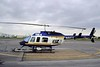"""Bell 206L-1 LongRanger II [1979] N44TV<br /> Grand Prairie Airport, Grand Prairie, Texas - April 2008<br /> <br /> The Bell 206L LongRanger is the seven-seat configuration of Bell's popular 206 JetRanger, powered by an Allison 250-C20B turboshaft engine.<br /> <br /> As you can tell by the paint job and the """"TV"""" in the N-number, at this time it was the Fox TV Network's eye in the sky. N44TV is now registered to US Helicopters, Inc of Marshville, North Carolina."""