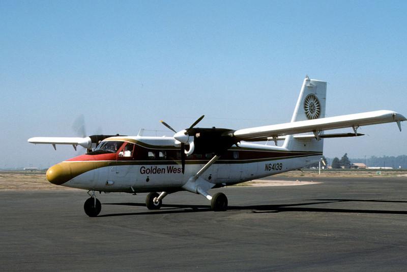 de Havilland DHC-6 Twin Otter [1964] N64139<br /> Oxnard Airport, Oxnard, California - November 1975