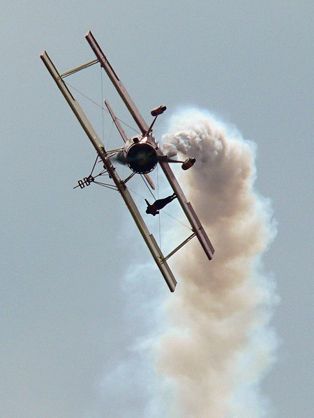 """""""Wingwalker""""<br /> <br /> At the Abbotsford Air Show Saturday August 11th, 2007. Gene Soucy and his wingwalker girlfriend Teresa Stokes . 718 photos and maybe 10 or 12 decent shots.<br /> <br /> ."""
