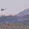 Fire attack helicopter working on controlling the spread of the Waldo Canyon Fire in Colorado Springs.