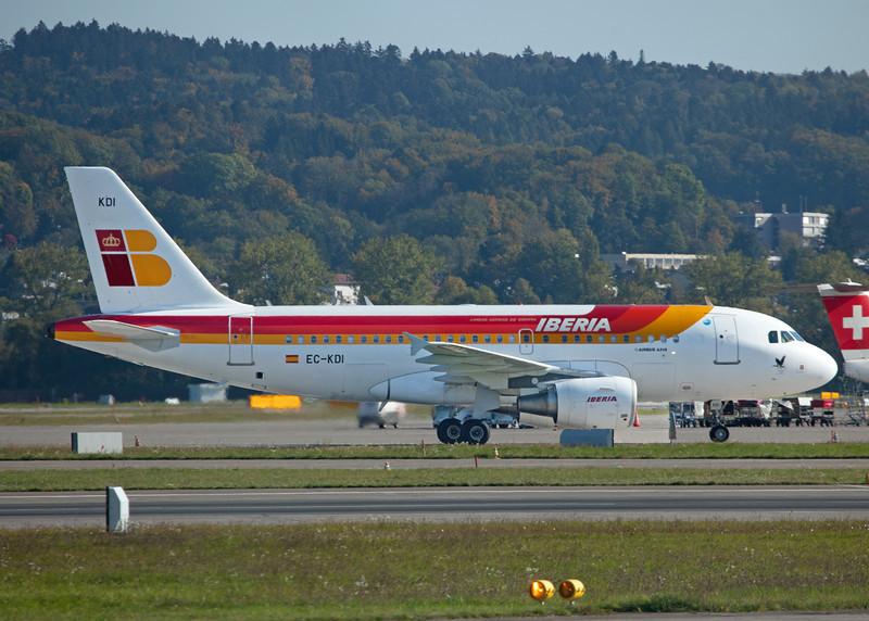 EC-KDI Airbus A319-111 (Zurich) Iberia