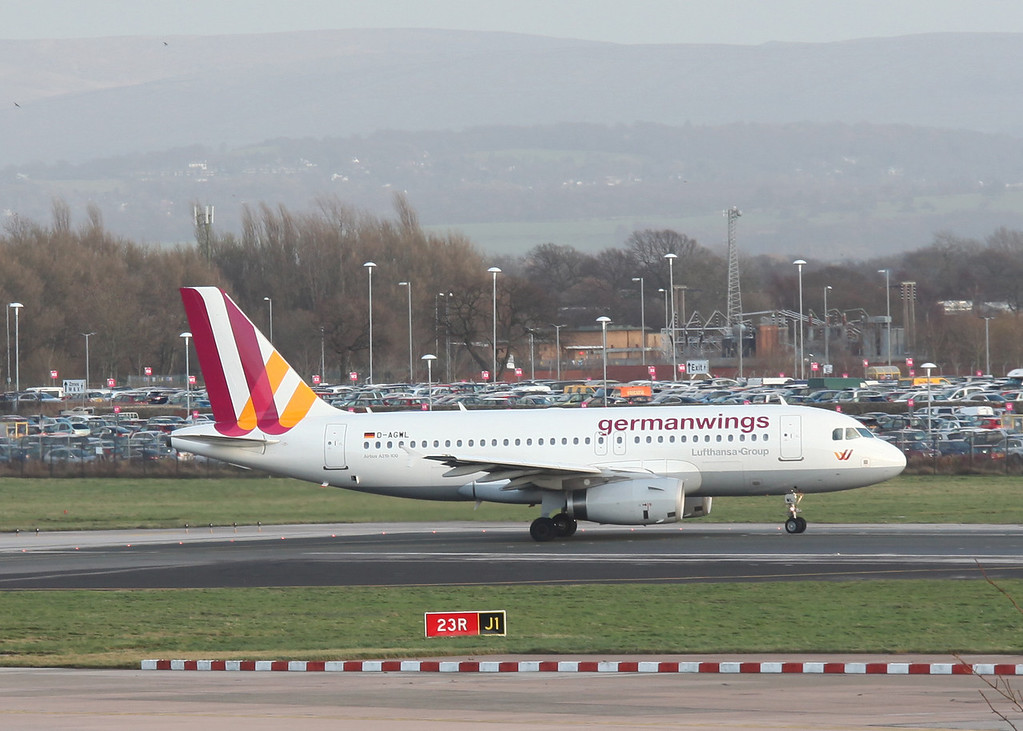 D-AGWL Airbus A319-100 (Manchester Airport) German Wings