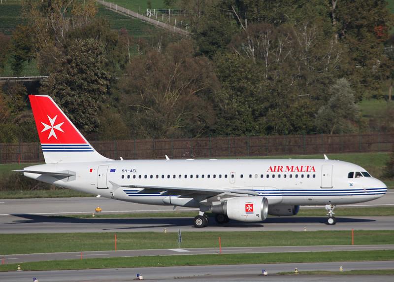 9H-AEL Airbus A319-111 (Zurich) Air Malta