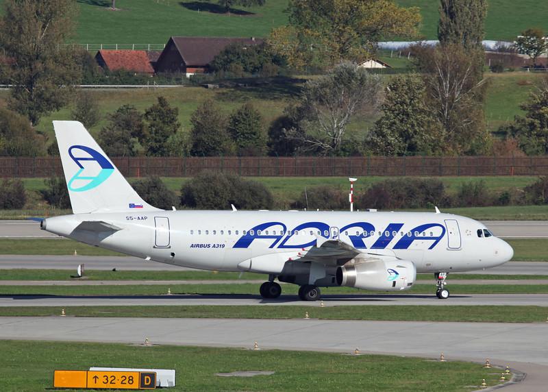 S5-AAP Airbus A319-132 (Zurich) Adria Airways