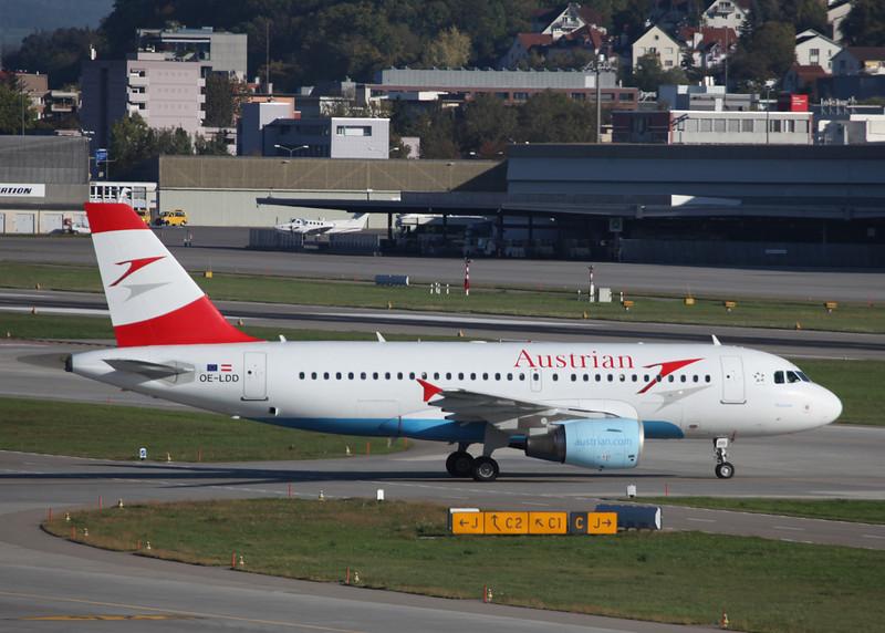 OE-LDD Airbus A319-112 (Zurich) Austrian Airlines