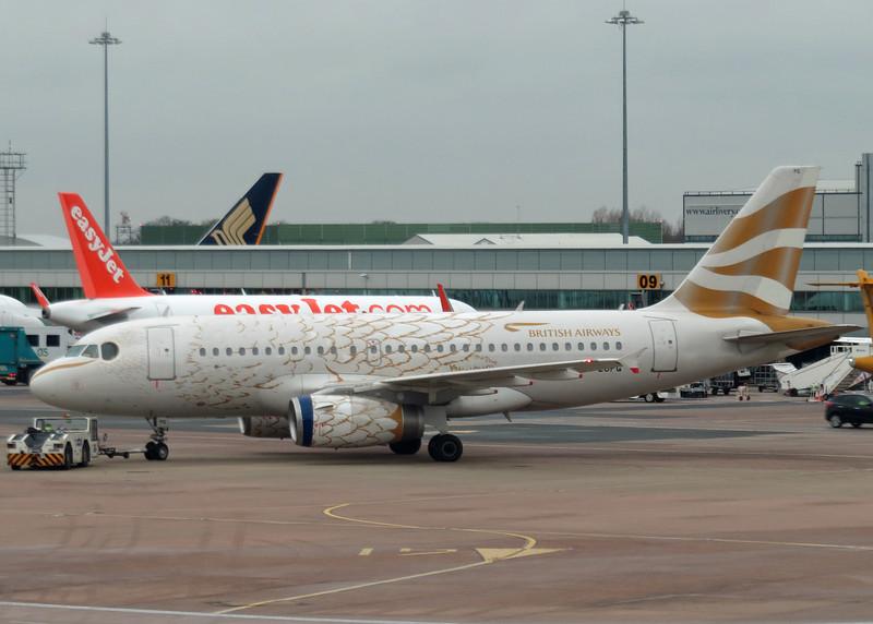 G-EUPG Airbus A319-131 (Manchester Airport) British Airways - feathers paint scheme 2