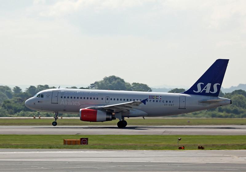 OY-KBT A319-100 (MAN) SAS Scandinavian Airlines