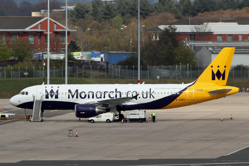G-OZBX A320 (Birmingham) Monarch Airlines