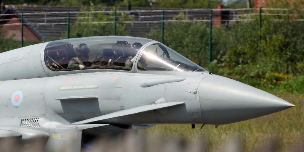 ZJ699 BAe Eurofighter Typhoon T1 (Warton) Bae Systems [cockpit]