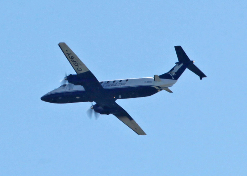 C-GPCY Beech 1900C (In flight over Vancouver) Pacific Coastal Airlines Ltd