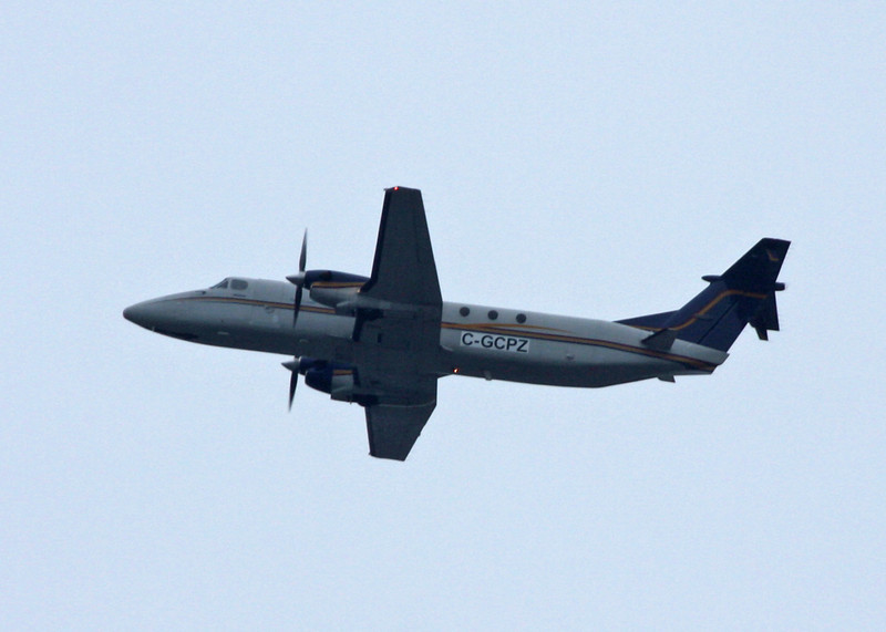 C-GCPZ Beech 1900C (In flight over Vancouver) Pacific Coastal Airlines Ltd