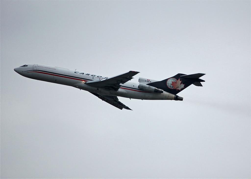 C-GCJN Boeing B727-225 (in flight over Vancouver) Cargojet Airways Ltd