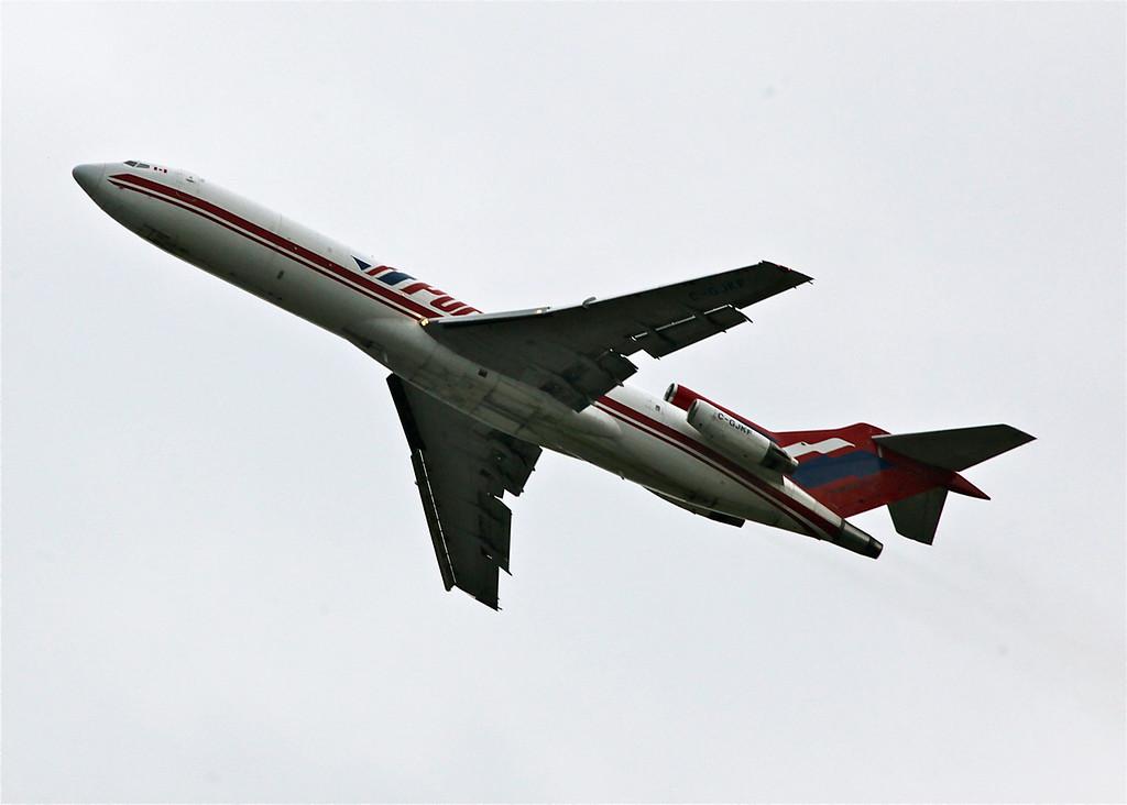 C-GJKF Boeing B727-225 (in flight over Vancouver) Kelowna Flightcraft Air Charter Ltd
