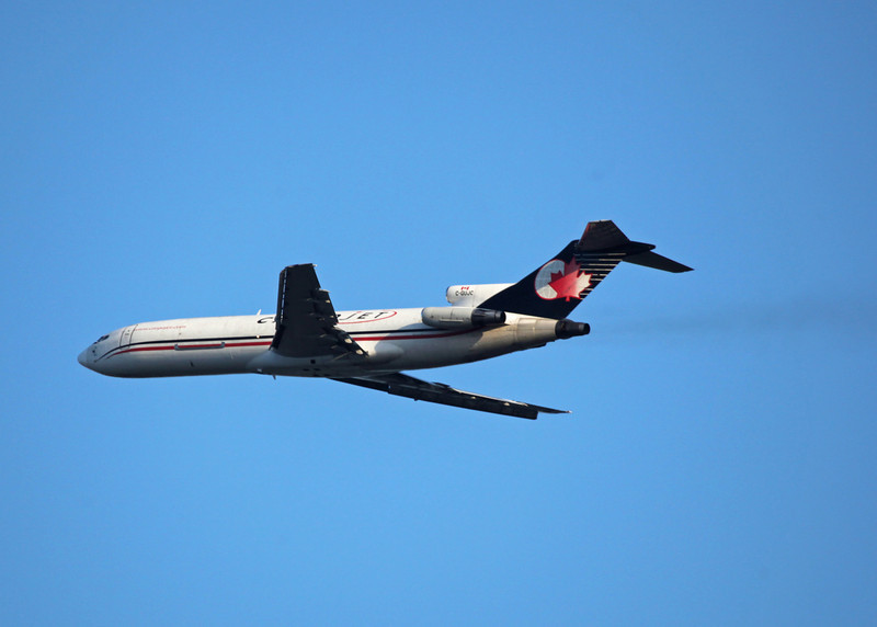 C-GUJC Boeing B727-260 (in flight over Vancouver) Cargojet Airways Ltd