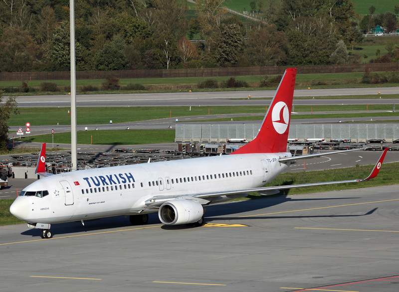 TC-JFP Boeing B737-800 (Zurich) Turkish Airlines