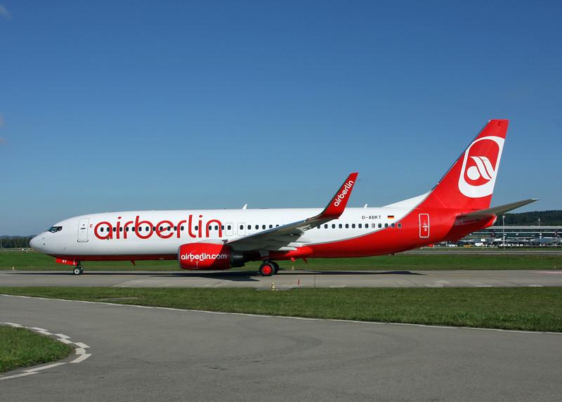 D-ABKT Boeing B737-86J (Zurich) Air Berlin