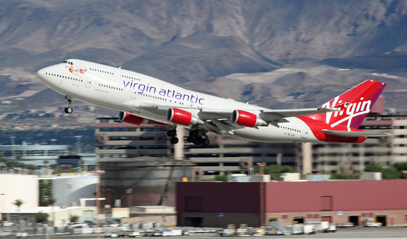 G-VLIP B747-443 [Hot Lips] (LAS) Virgin Atlantic