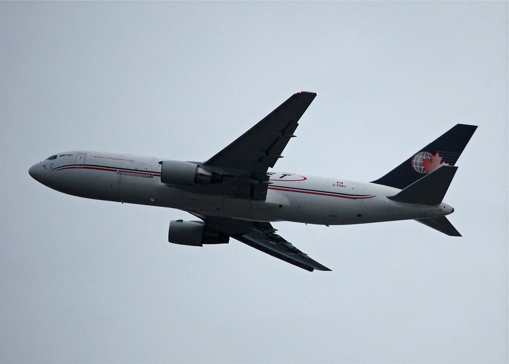 C-FGAJ Boeing B767-223 (in flight over Vancouver) Cargojet Airways Ltd