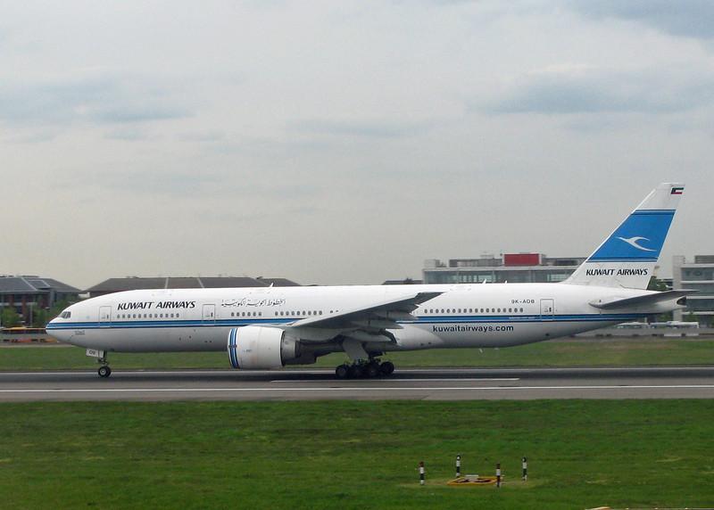 9K-AOB Boeing B777-269ER (LHR) Kuwait Airways