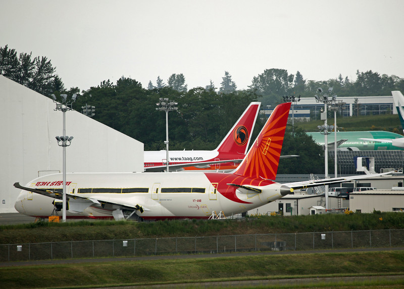 VT-ANB Boeing B787-800 'Dreamliner' (Boeing Field) Air India [No engines]