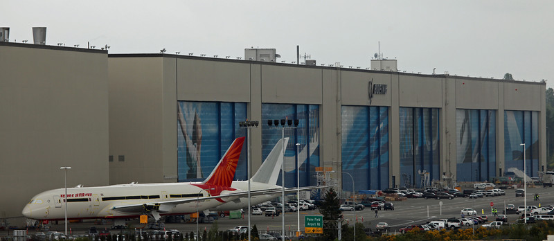 AT-ANE Boeing B787-800 'Dreamliner' (Boeing Field) Air India [No Engines]