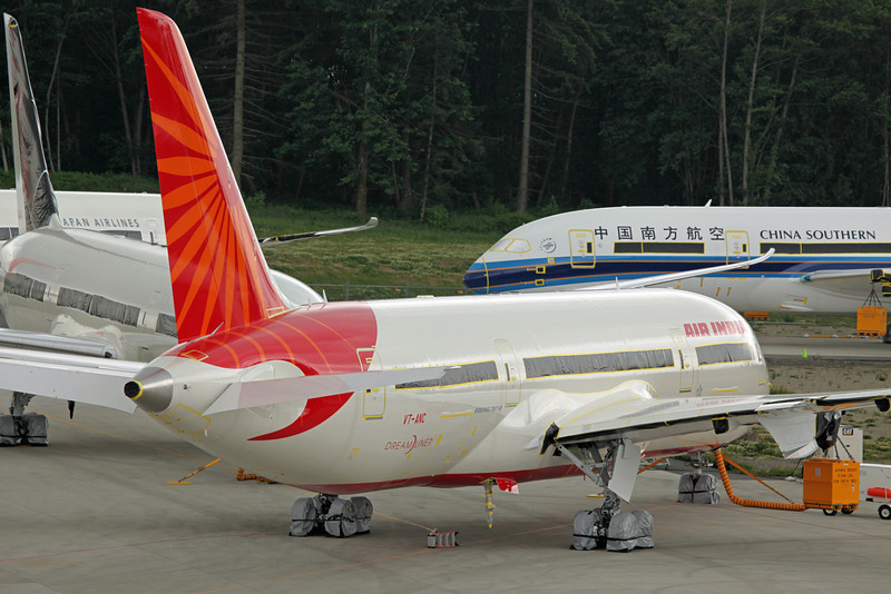 VT-ANC Boeing B787-800 'Dreamliner' (Boeing Field) Air India [No engines]