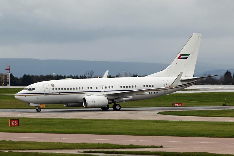 A6-AIN Boeing BBJ B737-7Z5 (MAN) Abu Dhabi Amiri Flight [3]