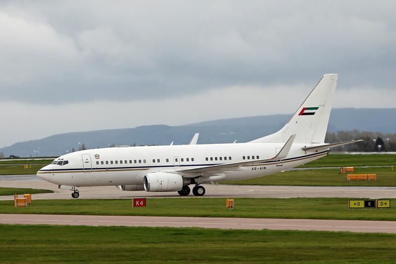 A6-AIN Boeing BBJ B737-7Z5 (MAN) Abu Dhabi Amiri Flight