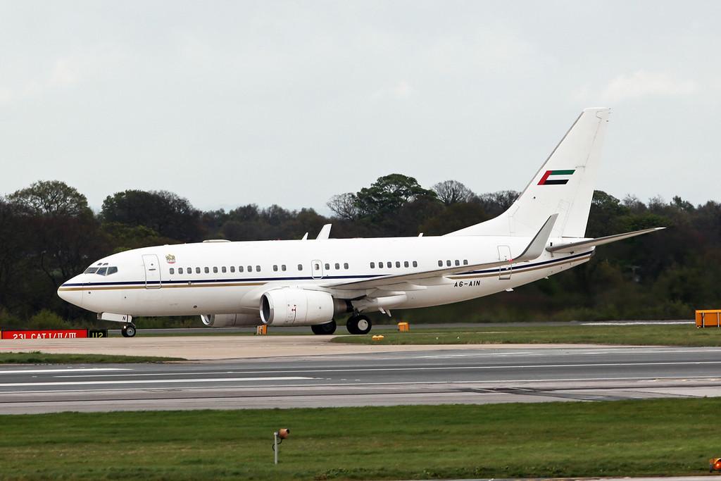 A6-AIN Boeing BBJ B737-7Z5 (MAN) Abu Dhabi Amiri Flight [2]