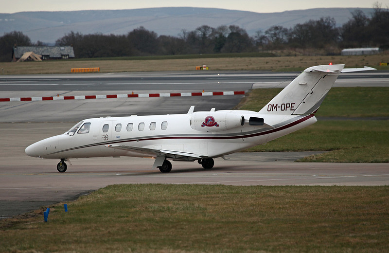 OM-OPE Cessna 525A CitationJet CJ2 (MAN) Opera Jet