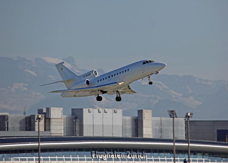 D-AHER Dassault Falcon 900EX (Zurich) Private