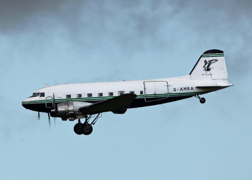 G-AMRA DOUGLAS DC-3C (Boscombe Down) Air Atlantique LTD 2