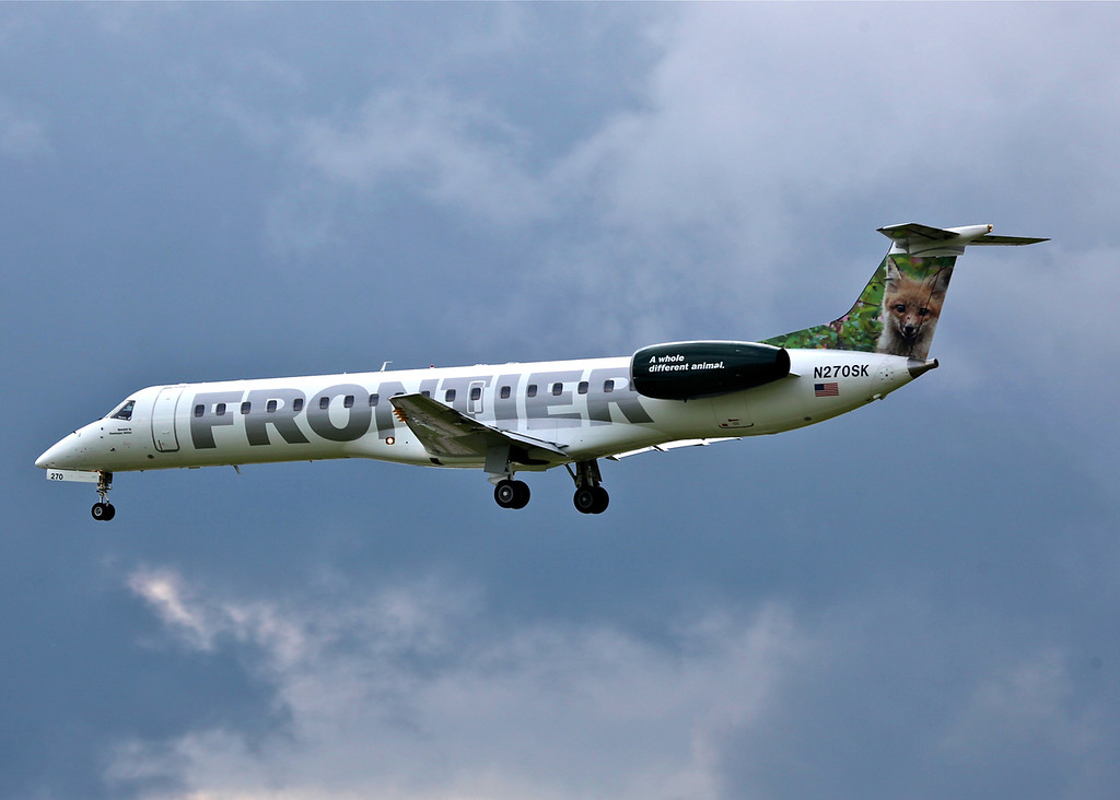 N270SK Embraer EMB-145LR (General Mitchell Airport - Milwaukee) Frontier Airlines 2