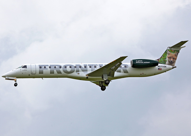 N270SK Embraer EMB-145LR (General Mitchell Airport - Milwaukee) Frontier Airlines 3