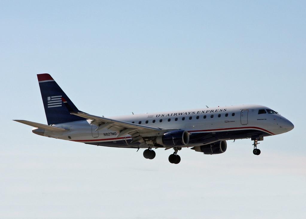 N827MD Embraer ERJ 170-100SU (sarasota international Airport) US Airways Express