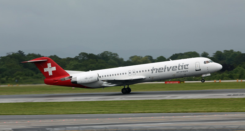 HB-JVF Fokker 100 (MAN) Helvetic Airways [1]