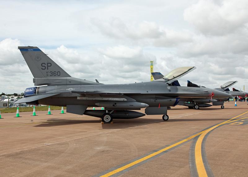 91-360 General Dynamics F-16C Fighting Falcon (RAF Fairford) United States Air Force (RIAT 2010)