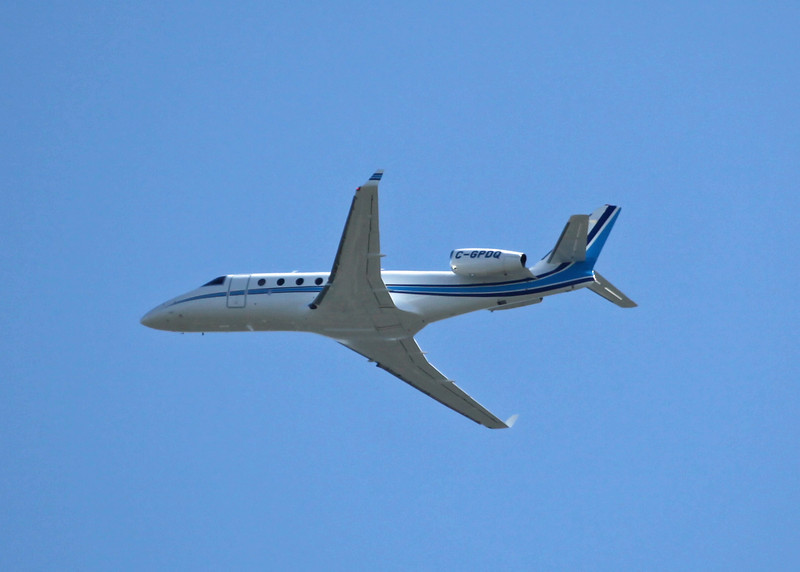C-GPDQ GULFSTREAM G150 (In Flight over Vancouver) Sunwest Aviation Ltd
