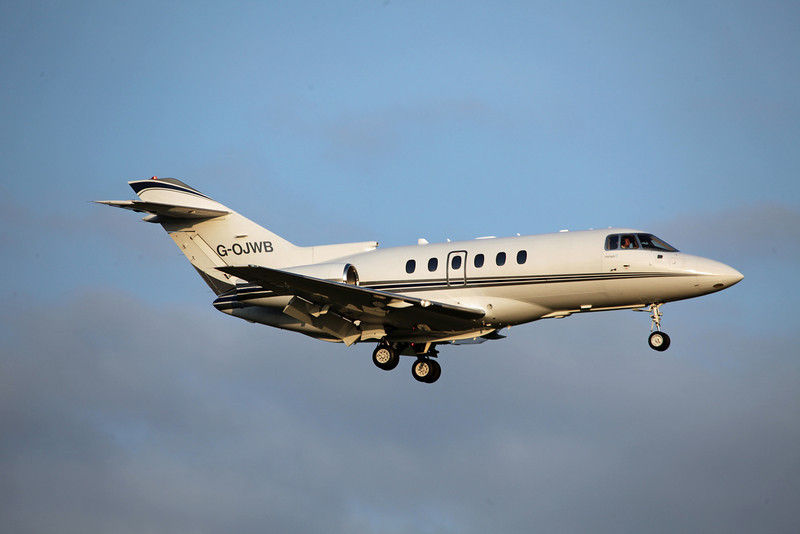 G-OJWB Raytheon Hawker 800XP (MAN) Walter Scott & Partners - Milburn World Travel Service (2)