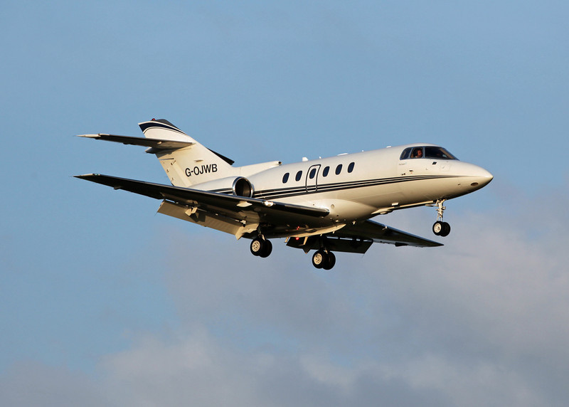 G-OJWB Raytheon Hawker 800XP (MAN) Walter Scott & Partners - Milburn World Travel Service